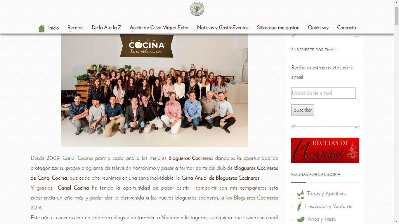 Cocinando entre olivos - Chipweb Diseño Web Granada