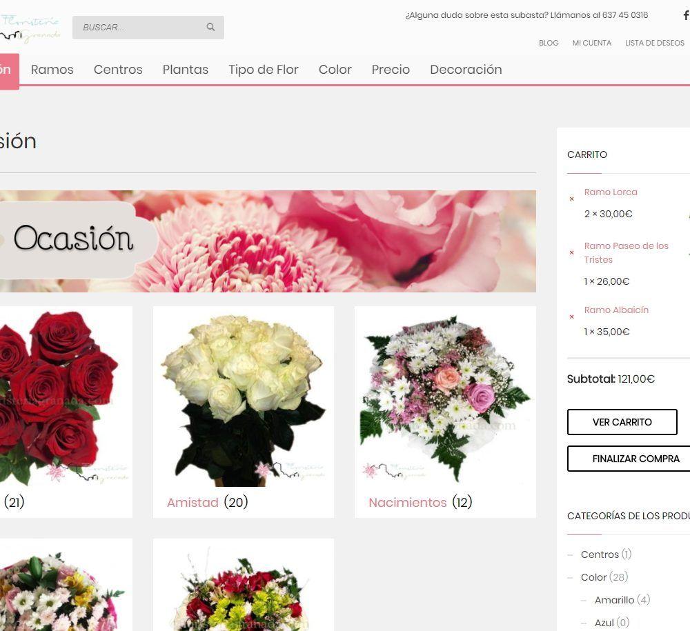 Subasta de FloresGranada.com - Tienda online para floristerías