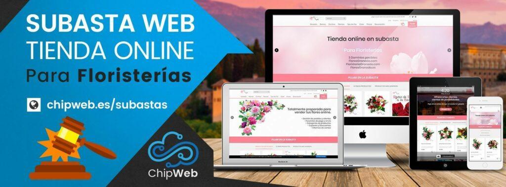 Subasta de tienda online para floristerías