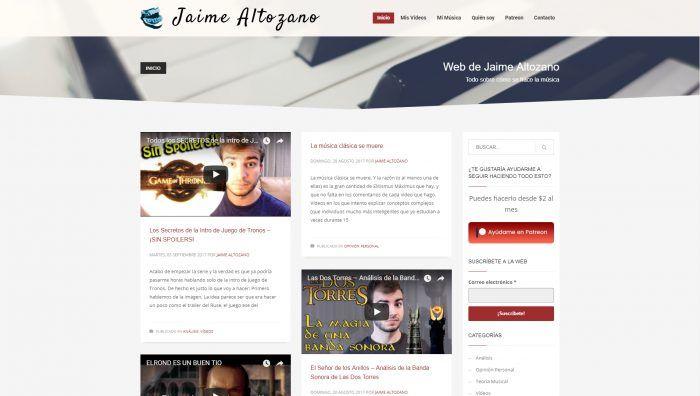Página de Inicio de Jaime Altozano