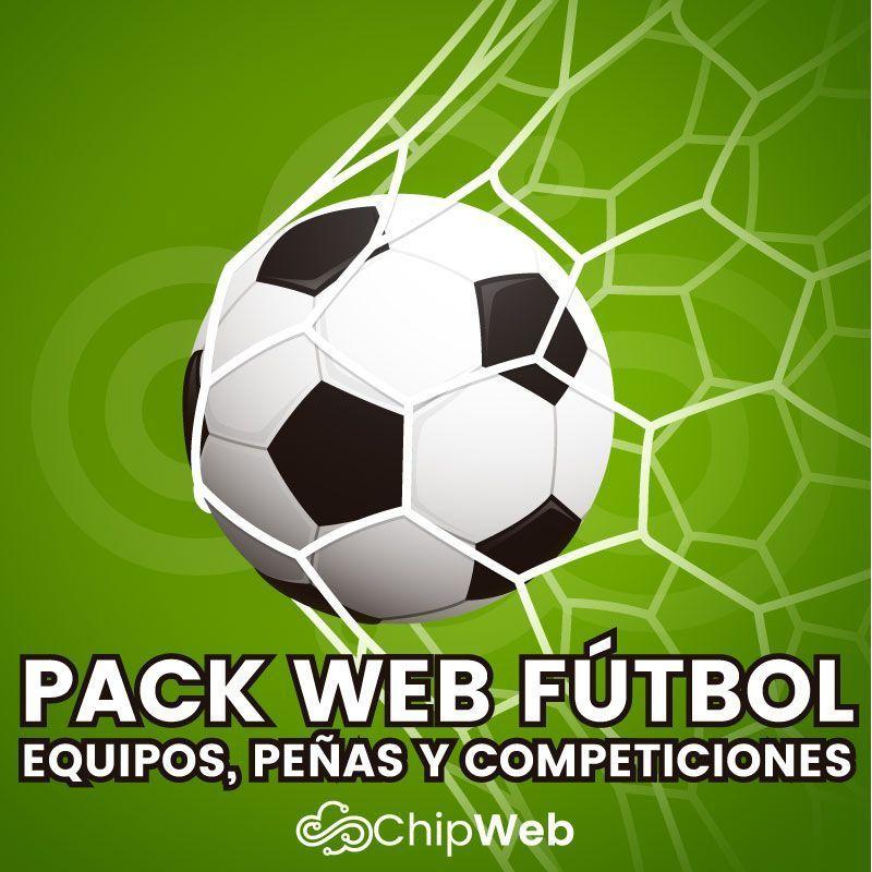 Pack Web Fútbol - Ideal para equipos de fútbol, peñas, competiciones, ligas e incluso federaciones y todo tipo de clubs deportivos.